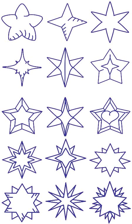 star embroidery designs