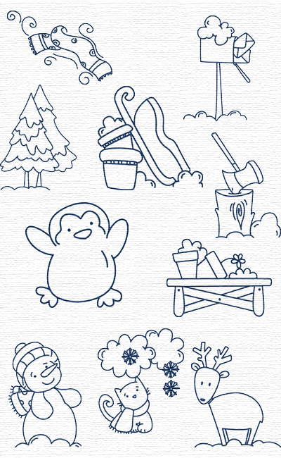 Winter Time embroidery designs