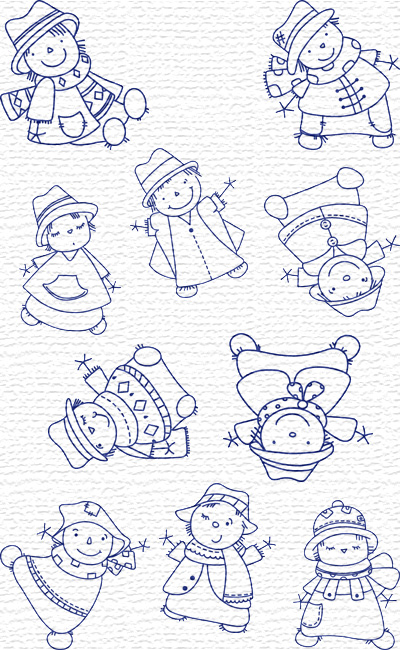 Scarecrow embroidery designs
