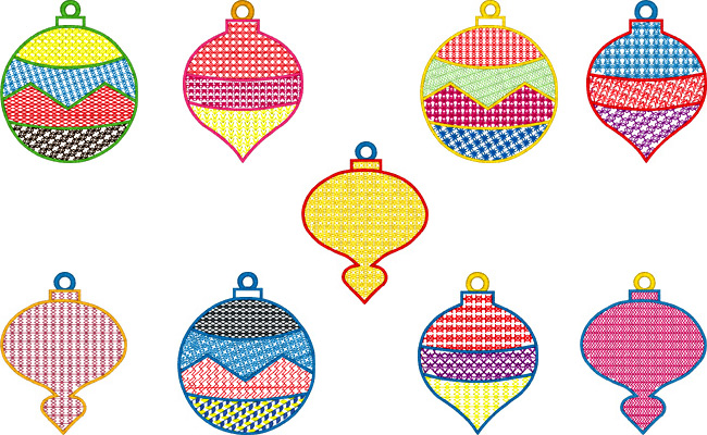Xmas Deco embroidery designs