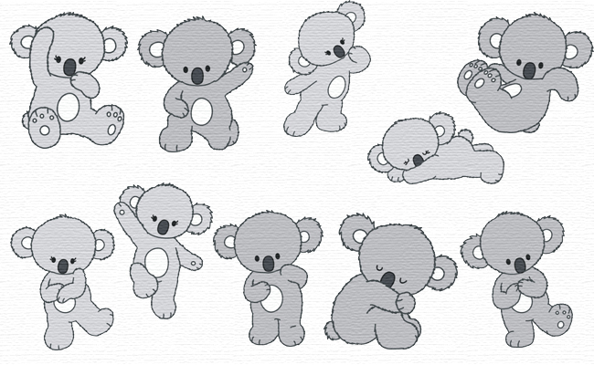 Koala embroidery designs