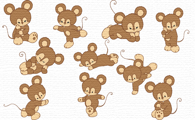 Mouses embroidery designs