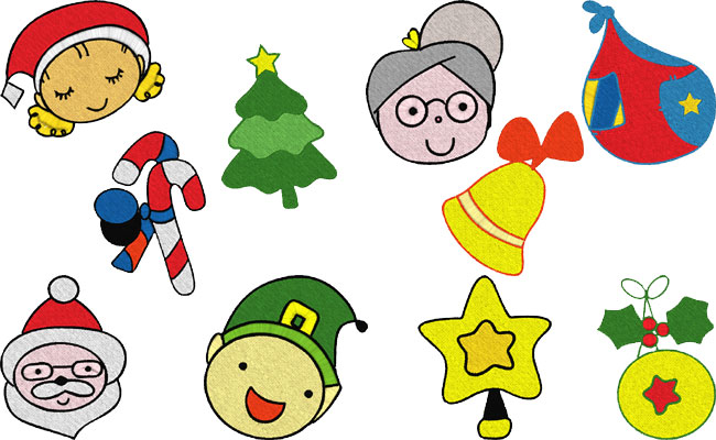 Xmas embroidery designs