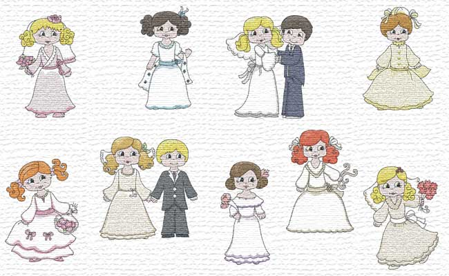 Wedding Day embroidery designs