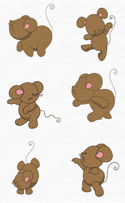 Mouse embroidery designs