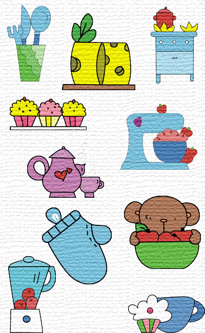My Kitchen embroidery designs