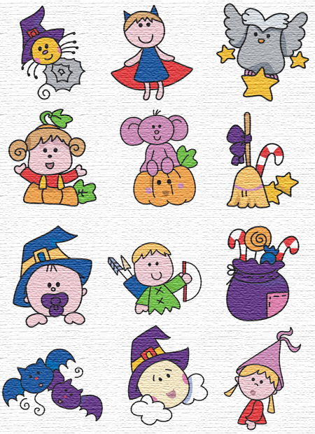 Halloween embroidery designs