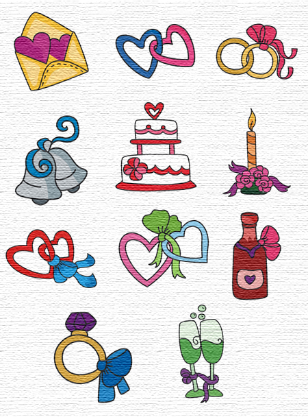 Wedding Time embroidery designs