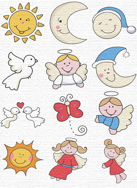 Sky embroidery designs