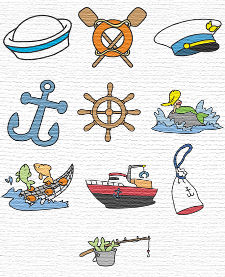 Sailing Time embroidery designs