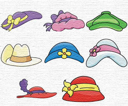 Hats embroidery designs