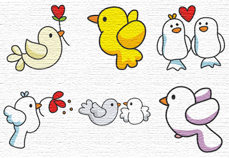 Birds embroidery designs
