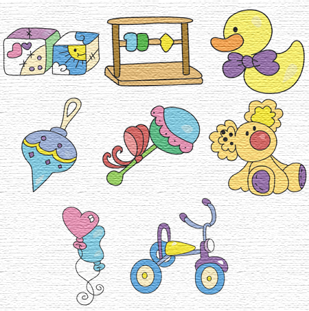 Toys embroidery designs