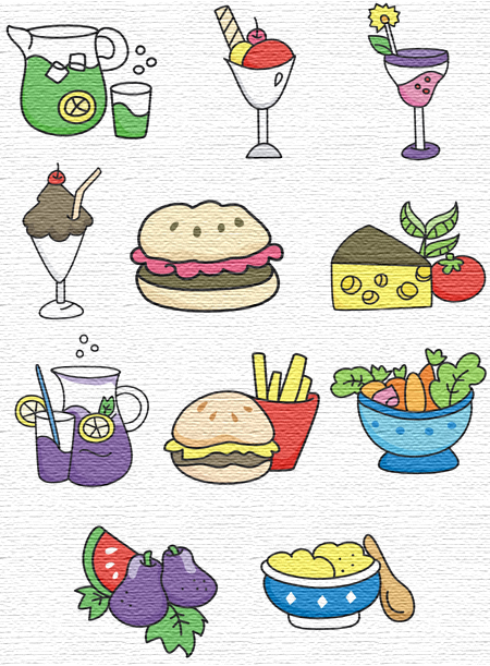 Foods embroidery designs