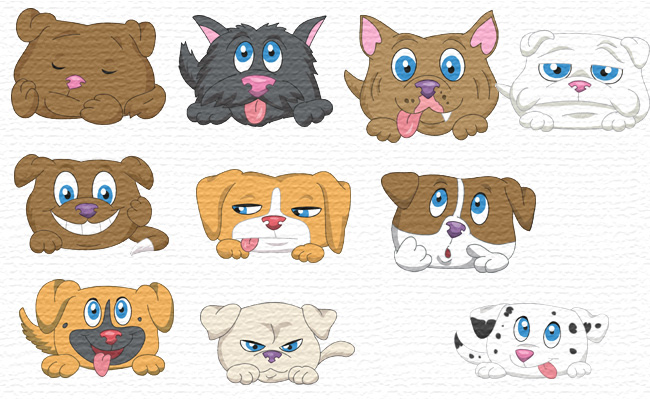 Puppies embroidery designs