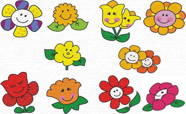 Funny Flowers embroidery designs