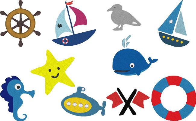 Sea embroidery designs