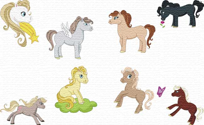 Horses embroidery designs