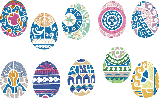 Easter Eggs embroidery designs