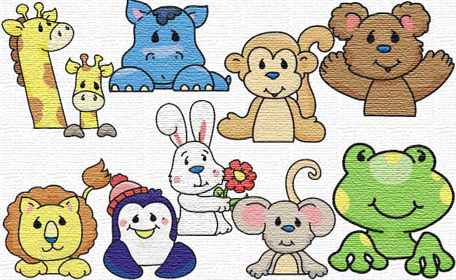 Little Friends embroidery designs