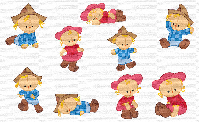 Cute Scarecrows embroidery designs