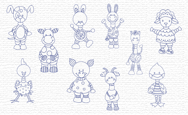 Farm embroidery designs
