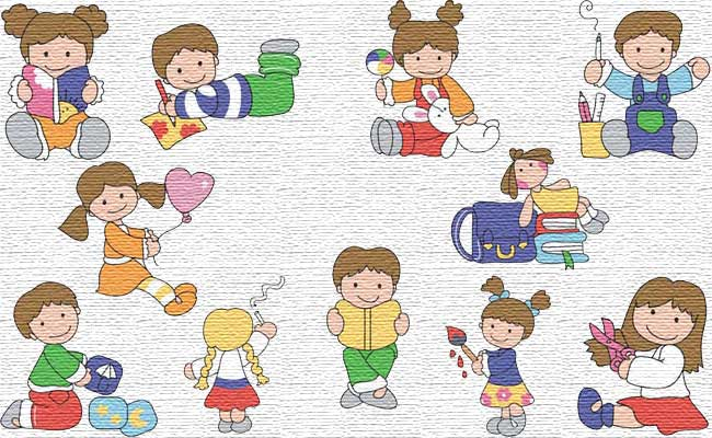 Back To School embroidery designs