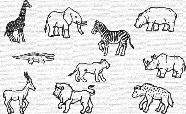 Zoo embroidery designs
