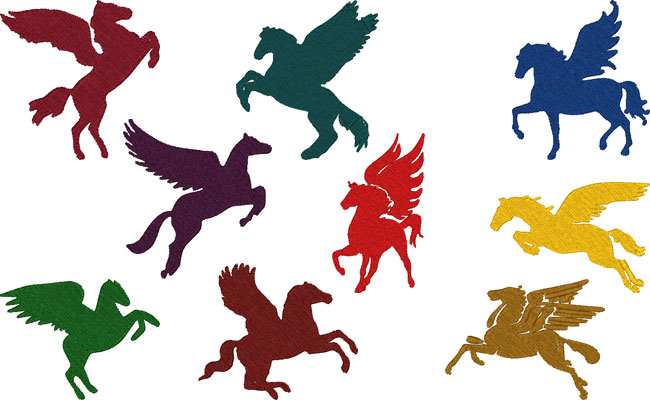 Pegasus embroidery designs