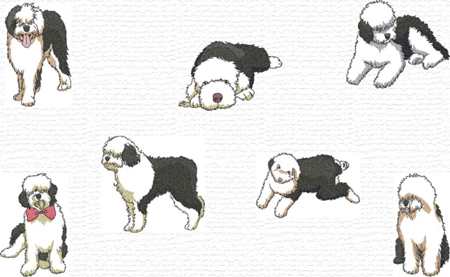 Bobtails embroidery designs