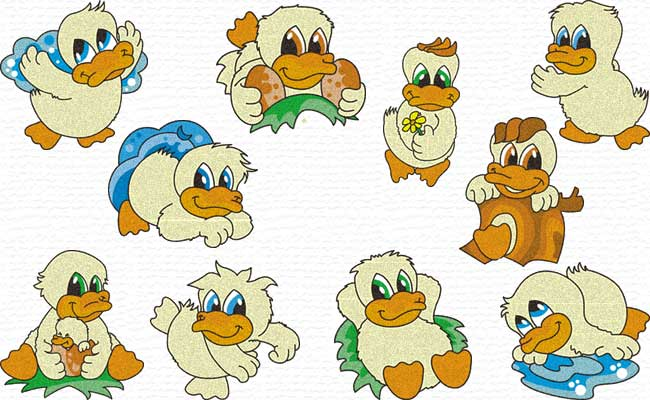 Duckies embroidery designs