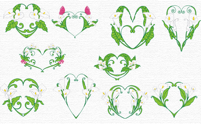 Callas embroidery designs