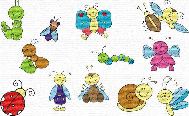 Little Bugs embroidery designs