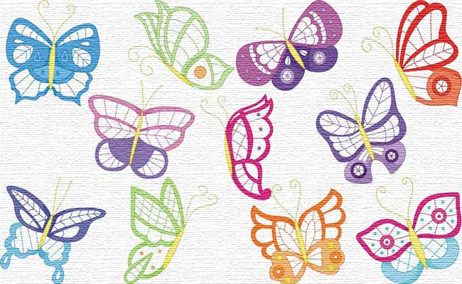 Colorlace Butterflies embroidery designs