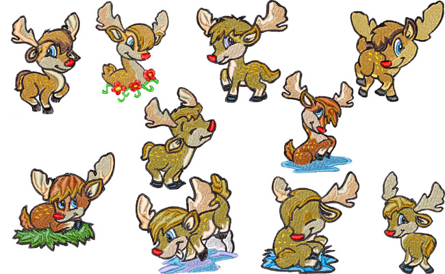 Sweet Deer embroidery designs