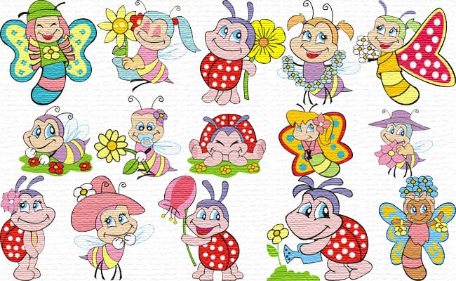 Cute Bugs embroidery designs
