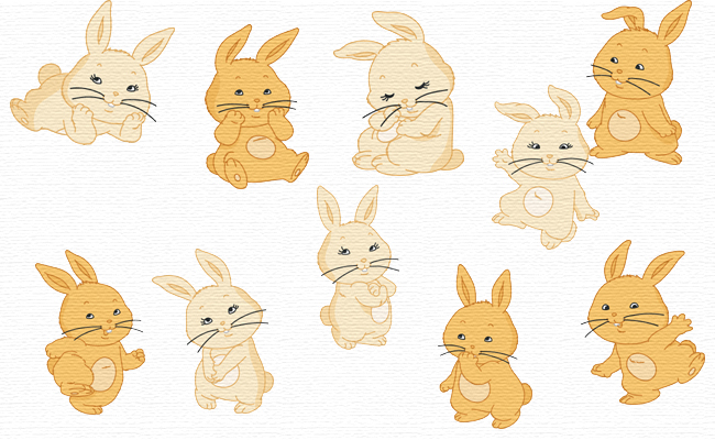 Bunnies embroidery designs