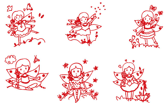 Delicate Fairies embroidery designs