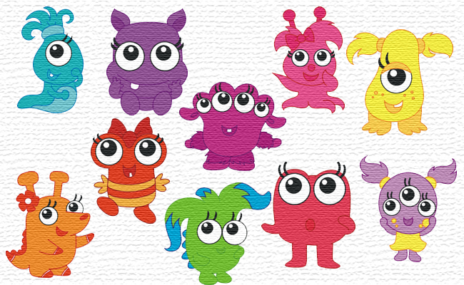 Little Monsters embroidery designs