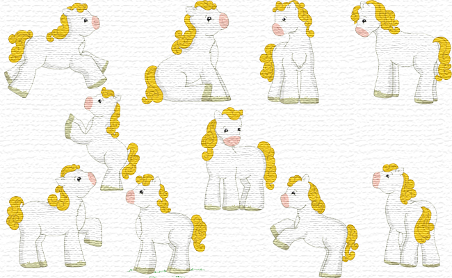Cute Horses embroidery designs