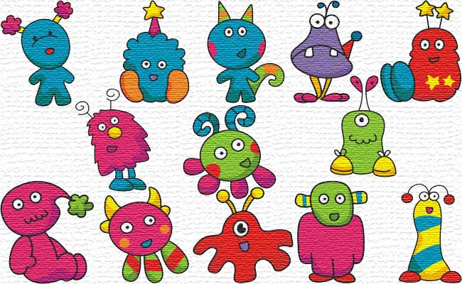 Monster embroidery designs