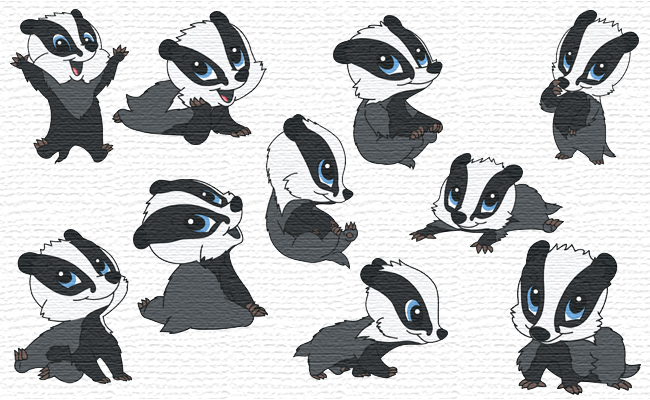 Badger embroidery designs