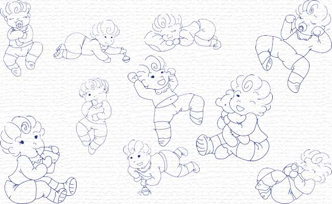 Baby Boy embroidery designs
