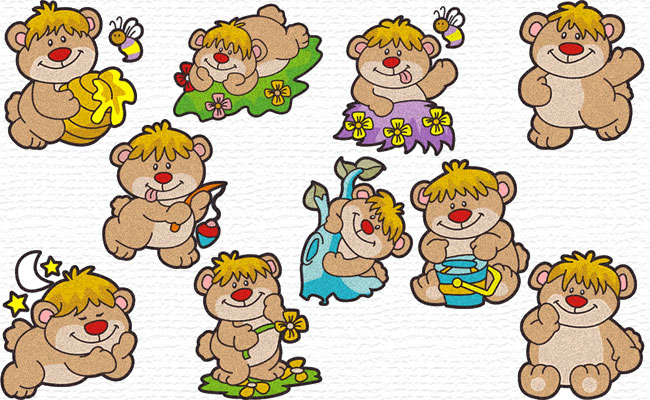Bears embroidery designs