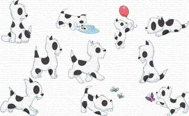 Cute Dogs embroidery designs