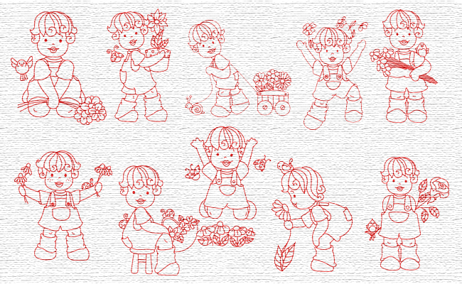 Spring embroidery designs