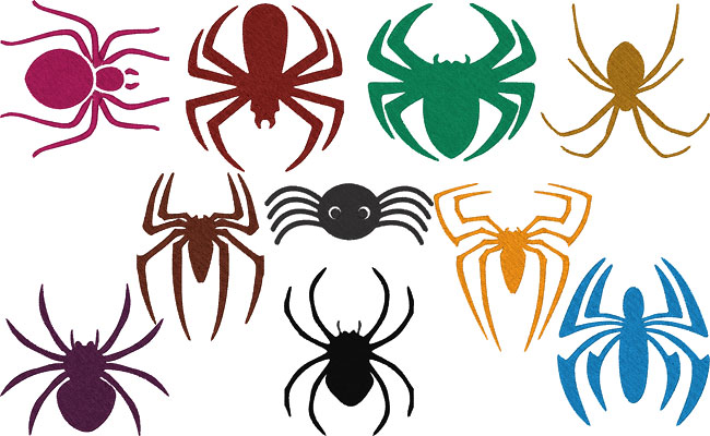 Spiders embroidery designs