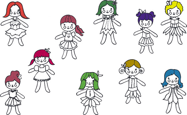 Bluework Ragdolls embroidery designs