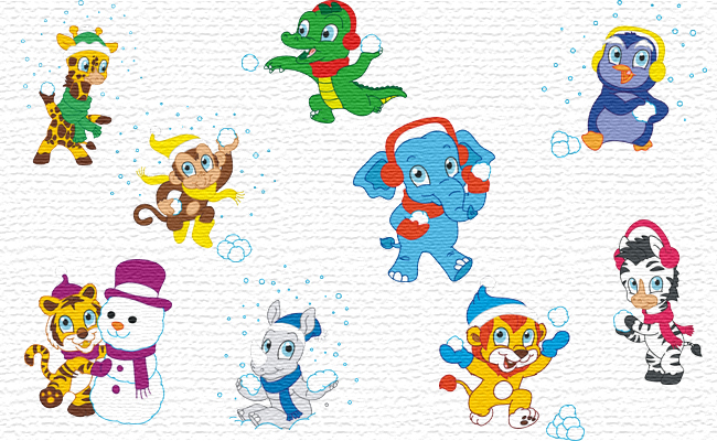 Winter embroidery designs