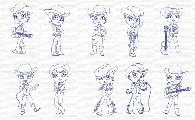 Boy embroidery designs